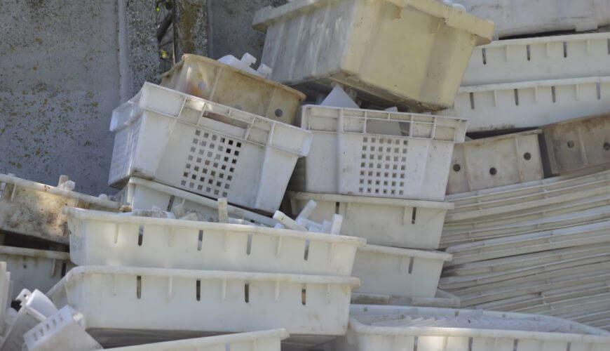 Прием лома пластиковых ящиков ПЕ, НД, ПНД (пивной, хлебный, молочный)